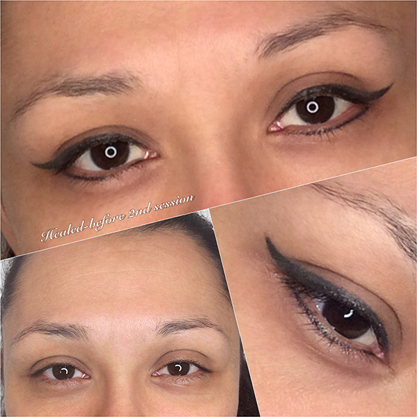 Permanent Eyeliner Before/After