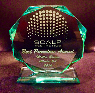 Scalp  Aesthetics Best Procedure Award - Milla Rosen, Atlanta, GA 2016